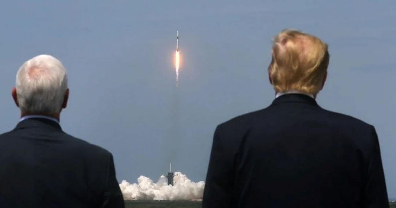"""Es increíble"""", dijo Trump sobre el despegue del Crew Dragon ..."""